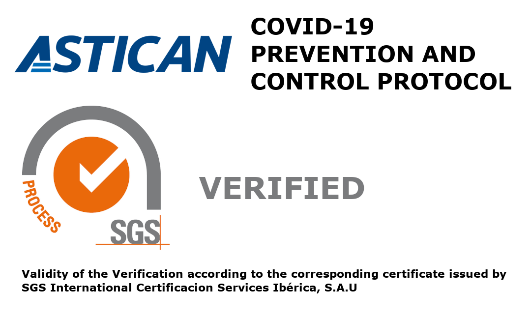 ASTICAN CERTIFIES WITH SGS ITS COVID-19 PROTOCOLS