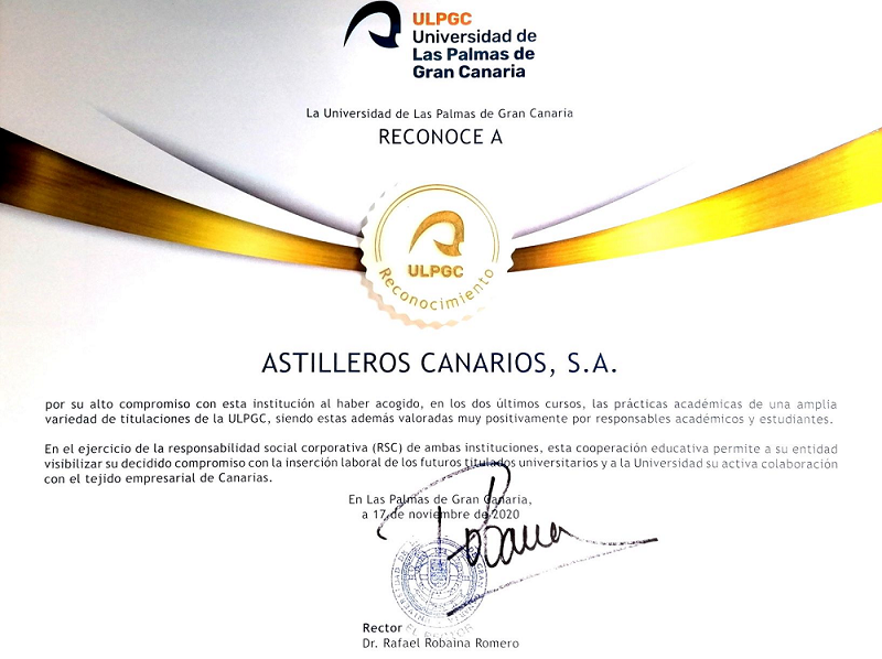 Astican is recognized for its collaboration with internships experience.